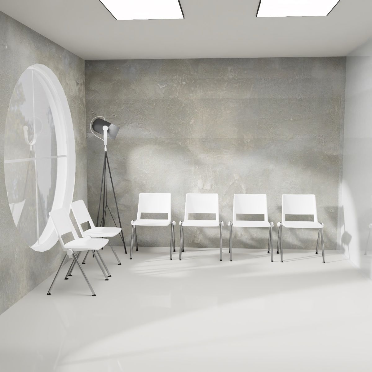 Shop the Look | Industrial Design. Cleaner und steriler Arztpraxis-Style.